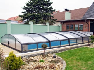 Retractable swimming pool enclosure IMPERIA