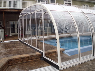 Pool enclosure Laguna with two levels height
