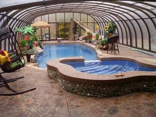 Pool enclosure Laguna - your private tropical paradise