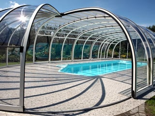 Retractable pool enclosure OLYMPIC