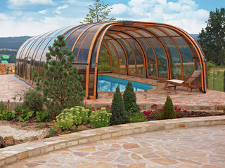 Pool enclosure Olympic - premium enclosure for your pool