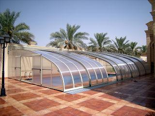 Retractable pool enclosure STYLE