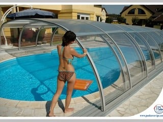 Pool enclosure Tropea makes a tropical island in your garden within seconds