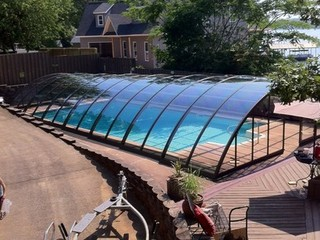 Pool enclosure Universe - custom made pool cover