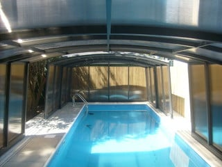 Pool enclosure Venezia semi-opened high pool cover