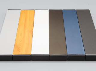 Pool Profile colors from left to right -  Silver, Wood like, White, Antique Brown, Cobalt Blue, Charcoal