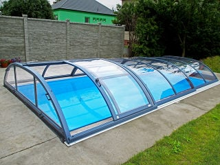 Retractable swimming pool enclosure Elegant