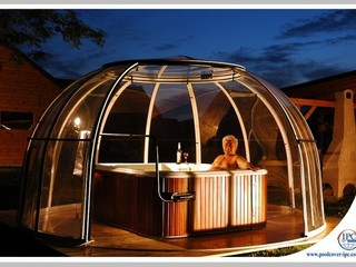 Spa Dome Orlando enclosure adds luxury to your hot tub