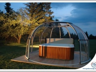 Spa Dome Orlando - watch rising sun under Hot Tub enclosure