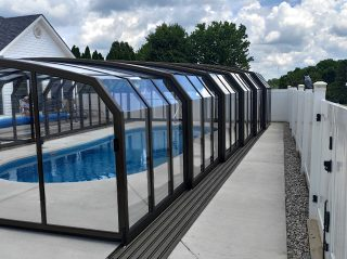 Swimming pool enclosure Oceanic High in anthracite finish