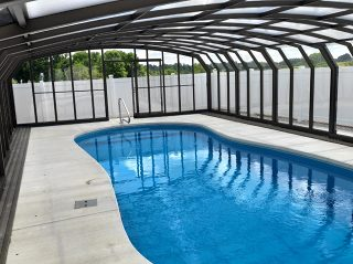 Swimming pool enclosure Oceanic High - view from inside