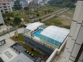 Swimming pool enclosure on the roof - China