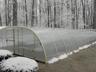 Swimming pool enclosure Universe in winter
