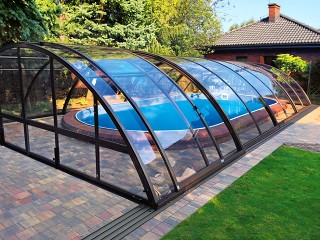Swimming pool enclosure Universe NEO anthracite finish