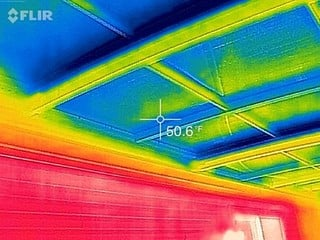 Temperature of roof - 50 degrees in the middle of winter - customer from Silver Spring, MD