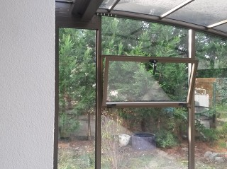 Tilt ventilation window for patio enclosures CORSO