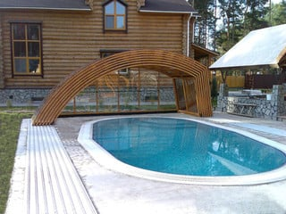 Unique design of pool enclosure Ravena