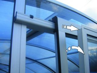 ventilating door Sliding and Tilting