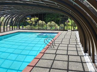 View from inside of the Laguna pool enclosure