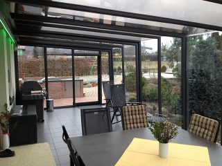 view into patio enclosure corso glass - Glass Enclosures