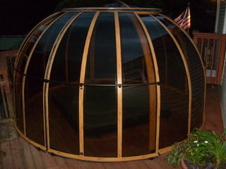 Wood decored Spa dome Orlando
