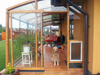 Your pet will love your patio enclosure too - it is a new shelter when it´s raining